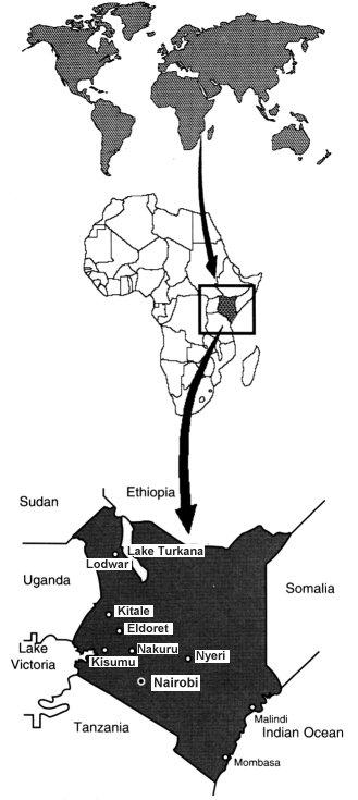 World Map Kenya